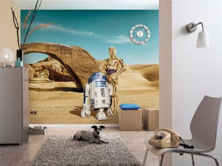 Star Wars Lost Droids wall mural wallpaper